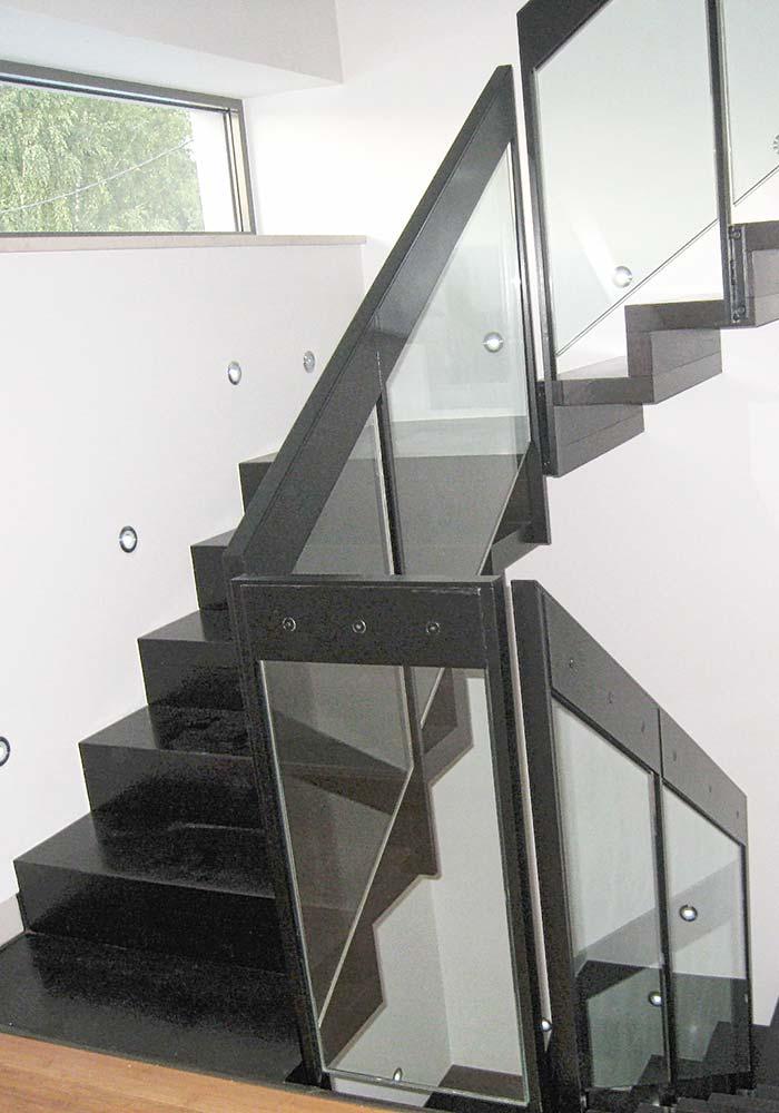 Stahl-Glasgeländer